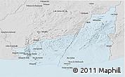 Silver Style Panoramic Map of MALDONADO