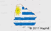 Flag Map of Uruguay