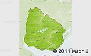 Physical Map of Uruguay, lighten