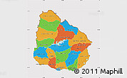 Political Map of Uruguay, cropped outside