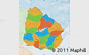 Political Map of Uruguay, lighten