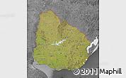 Satellite Map of Uruguay, desaturated