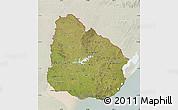 Satellite Map of Uruguay, lighten
