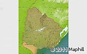 Satellite Map of Uruguay, physical outside, satellite sea