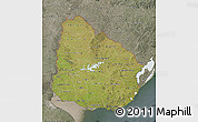 Satellite Map of Uruguay, semi-desaturated