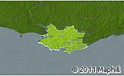 Physical 3D Map of MONTEVIDEO, darken