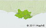 Physical 3D Map of MONTEVIDEO, lighten