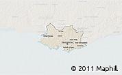 Shaded Relief 3D Map of MONTEVIDEO, lighten