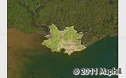 Satellite Map of MONTEVIDEO, darken