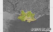 Satellite Map of MONTEVIDEO, desaturated