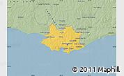 Savanna Style Map of MONTEVIDEO