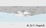 Gray Panoramic Map of MONTEVIDEO