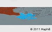 Political Panoramic Map of MONTEVIDEO, darken