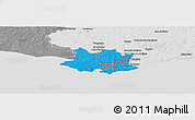 Political Panoramic Map of MONTEVIDEO, desaturated