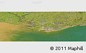 Satellite Panoramic Map of MONTEVIDEO