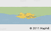 Savanna Style Panoramic Map of MONTEVIDEO, single color outside