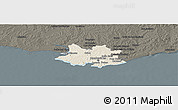 Shaded Relief Panoramic Map of MONTEVIDEO, darken