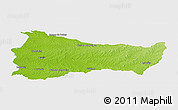 Physical Panoramic Map of PAYSANDU, single color outside