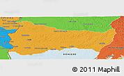 Political Panoramic Map of PAYSANDU