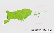 Physical 3D Map of RIO NEGRO, cropped outside