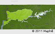 Physical 3D Map of RIO NEGRO, darken