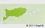 Physical 3D Map of RIO NEGRO, lighten