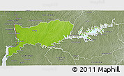 Physical 3D Map of RIO NEGRO, semi-desaturated