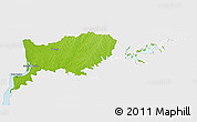 Physical 3D Map of RIO NEGRO, single color outside