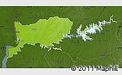 Physical Map of RIO NEGRO, darken