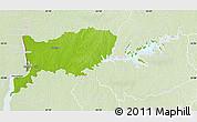 Physical Map of RIO NEGRO, lighten