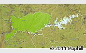 Physical Map of RIO NEGRO, satellite outside