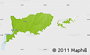 Physical Map of RIO NEGRO, single color outside