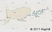 Shaded Relief Map of RIO NEGRO, lighten