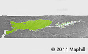 Physical Panoramic Map of RIO NEGRO, desaturated