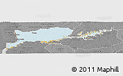 Political Panoramic Map of RIO NEGRO, desaturated