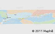 Political Panoramic Map of RIO NEGRO, lighten