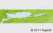 Political Panoramic Map of RIO NEGRO, physical outside