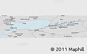 Silver Style Panoramic Map of RIO NEGRO