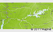 Physical Map of Rio Negro