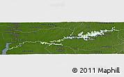 Physical Panoramic Map of Rio Negro, darken