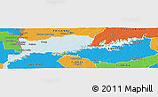 Physical Panoramic Map of Rio Negro, political outside