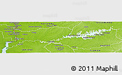 Physical Panoramic Map of Rio Negro
