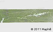 Physical Panoramic Map of Rio Negro, semi-desaturated