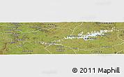 Satellite Panoramic Map of Rio Negro