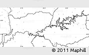 Blank Simple Map of RIO NEGRO, no labels