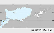 Gray Simple Map of RIO NEGRO, single color outside