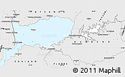Silver Style Simple Map of RIO NEGRO