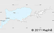 Silver Style Simple Map of RIO NEGRO, single color outside