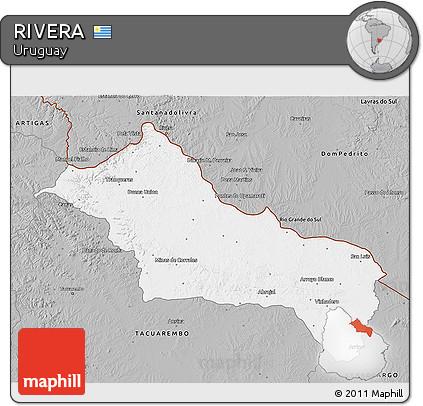 Gray 3D Map of RIVERA