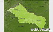 Physical 3D Map of RIVERA, darken